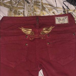 Woman robins jeans